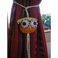 Sujetador De Cortina Búho Lechuza Artesanal Tejido Crochet