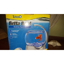 Pescera Para Peces Bettas - Tetra Betta Bowl Con Luz