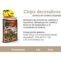 Chips De Corteza X 5 Lts - Decoración De Jardín -terrafertil