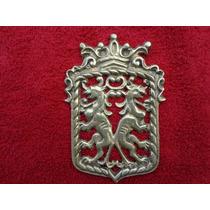 Escudo De Armas , 2 Leones Fantasticos Hermosa Figura