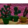 Mini Cactus Artificial Retro En Macetita Precio X 6