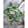 Divinos Banderines Tejidos Al Crochet. Villa Crespo.