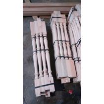 Fabrica Balustres De Madera Eucaliptus 3x3x1.20m Torneado