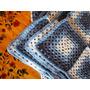 Manta Crochet, Azules Y Celestes - Tejidos Zurdos