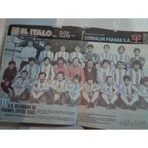 C.a. Belgrano De Parana Entre Rios 1985 Poster Solo Futbol