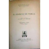 El Derecho De Familia.- Antonio Cicu (k1)