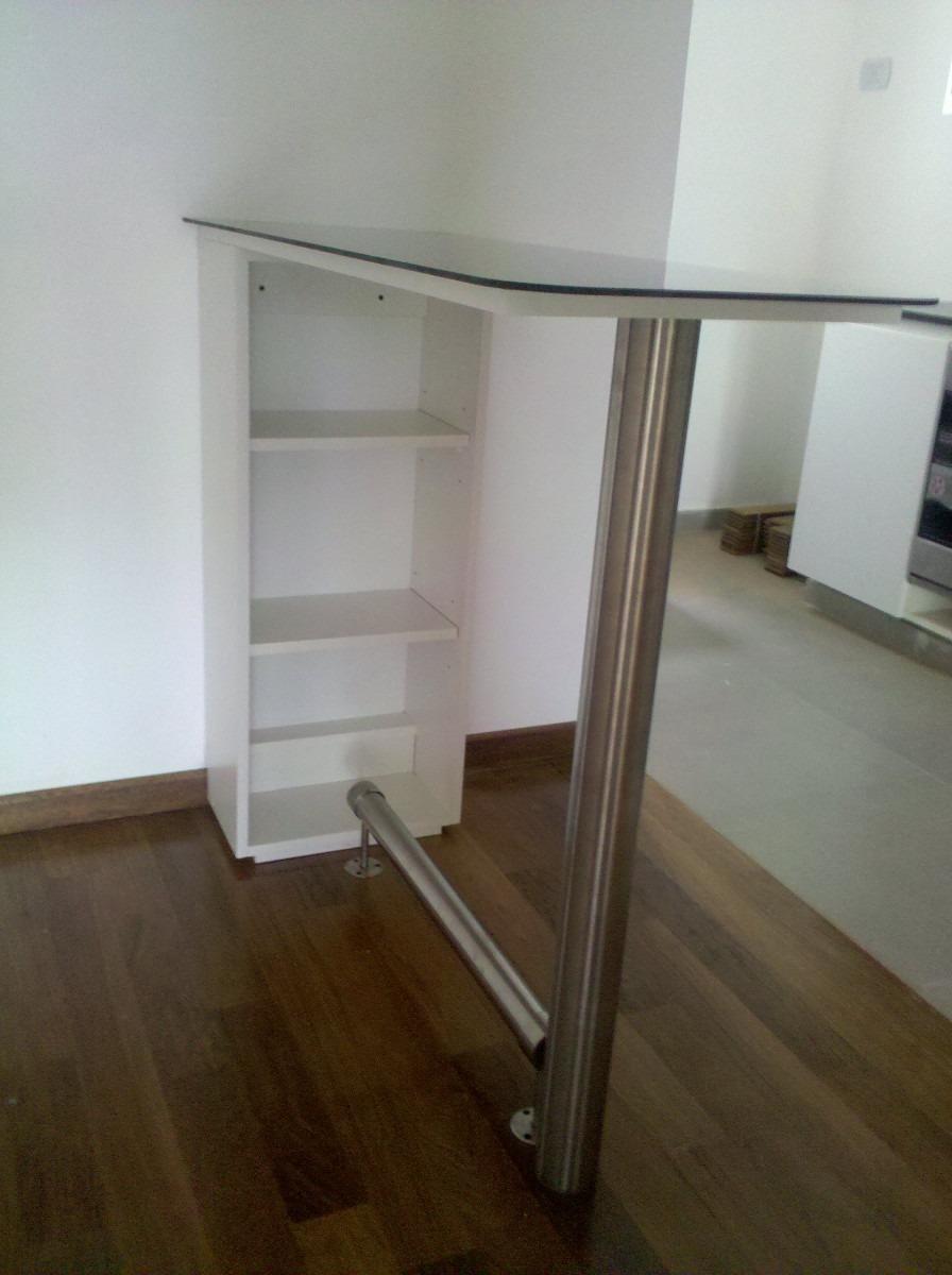 Muebles vidrio y acero 20170829053246 - Patas para barras de cocina ...