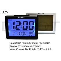 Reloj Mesa Digital Dakot 11 Func Última Tecnología D25