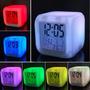 Reloj Despertador Digital Led Cambia De Colores Temperatura