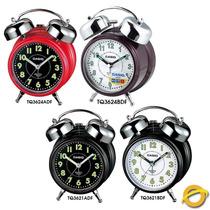 Reloj Despertador Casio Tq-362 Alarma Campana Snooze Luz