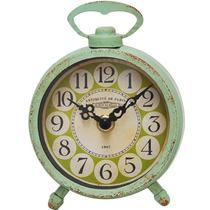 Reloj De Metal Color Verde Estilo Vintage Almacen De Objetos