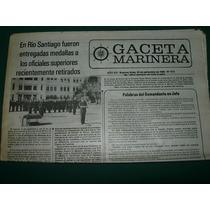 Diario Gaceta Marinera 22/9/83 Medalla Oficiales Rio Santiag