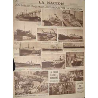 Diario La Nacion 25/8/41 Barcos Italia Futbol Boca Huracan