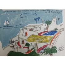 Carlos Paéz Vilaro Serigrafía Casa Pueblo 1975 37x51