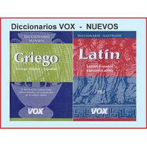 Diccionarios Vox Manual Latin-español Y Griego-español Nuevo