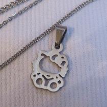 Acero Quirúrgico Mini Dije Colgante Hello Kitty +cadena