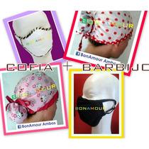 Cofia+barbijo Triple Capa Quirúrgico Promo Bonamour Ambos***