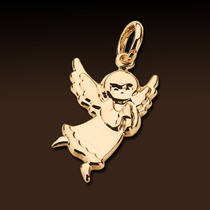 Precioso Dije Angel De La Guarda Laminado Oro 18k Rommanel