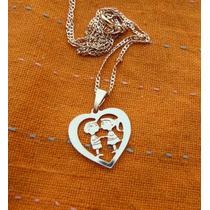 Medalla Corazón Tú Y Yo Oro 14 K Gold Filled Y Cadena 40 Cm