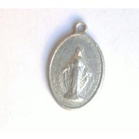 Medalla Vírgen De La Medalla Milagrosa Antigua