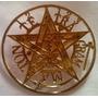 Pentaculo Tetragramaton Esoterico Oro 18 K 4 Cm Modelo 71