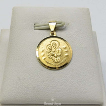 Dije Medalla Oro Amarillo 18k San Cayetano 1,3grs Brumat