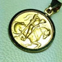Medalla De San San Jorge Oro 18 K. Garantizado