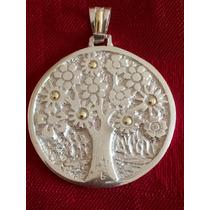 Medalla De Árbol De La Vida De Plata Y Oro