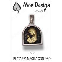 Dijes Medallas Colgantes Virgen Niña En Plata E Imagen Oro