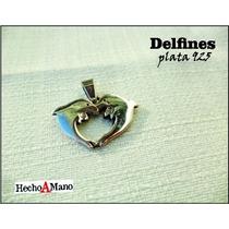 Dije Delfines Plata 925 .- Joyas De Autor -