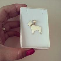 Dije De Plata Y Oro Bulldog Frances