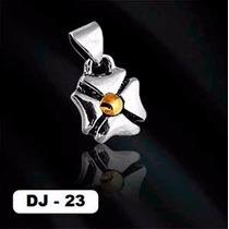 Dije De Plata 950 Con Oro Flor - Dj-23