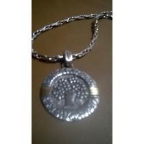 Medalla Arbol De La Vida Con Cadena Plata Y Oro