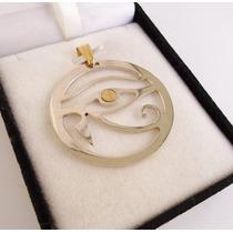 Dije Plata 925 Y Oro Espectacular Ojo De Horus Diseño Calado