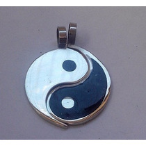 Dije Media Medalla Ying Yang Reconstituido En Plata