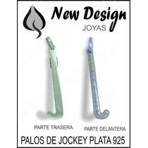 Hermoso Palo De Jockey En Plata 925 Maciza