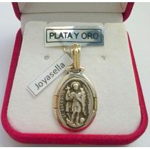 San Expedito Medalla Plata Y Oro