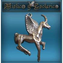 Medalla Plata Caballo Pegasus Hermosa 2 Cm