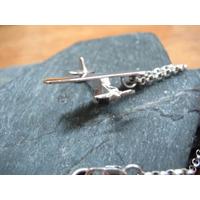 Avion Piper Pa 11.plata 925