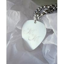 Pua Personalizada De Plata Medium Con Cadena Acero Bolitas