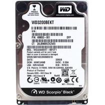 Disco Rigido Wd Scorpio Black 320gb 7200rpm 16mb Wd3200bekt