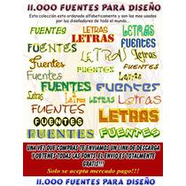 11.000 Fuentes Tipográficas Tipografías Fonts