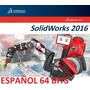 Solid Works Premium 2016 Sp1 Español +8000 Bloques +tutorial