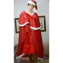 Disfraz Mama Noel Blusa,pollera,capa,botas,gorro (ana.mar)
