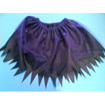 Disfraz Pollerita Minifalda Bruja Hada Adulto Halloween Tutu