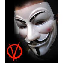 Mascara Plastica De Anonymous Guyfawkes En Pvc Semi Rígido