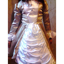 Disfraz De Dama Antigua En Raso