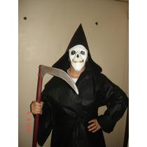 Disfraz De Parca La Muerte Halloween Screem Tela Vinilica