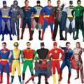 Disfraz Con Musculos Adultos Batman Wolverine Superman Flash