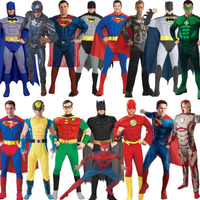 Disfraz Con Musculos Adultos Batman Wolverine Superman Flash